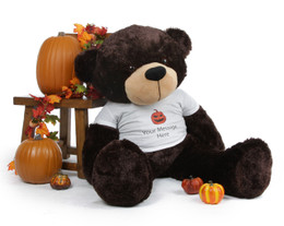 Brownie Cuddles Personalized Giant Halloween Teddy Bear 48in