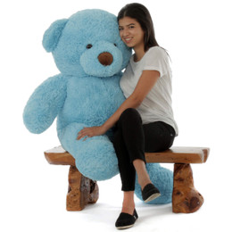 Sammy Chubs Extra Plump Sky Blue Big Stuffed Teddy Bear 48in
