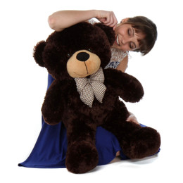 Brownie Cuddles Huggable and Cute Chocolate Brown Teddy Bear 30in