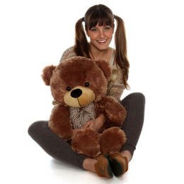30in Giant Teddy Bear Cuddles Soft Cuddly Mocha Brown Fur