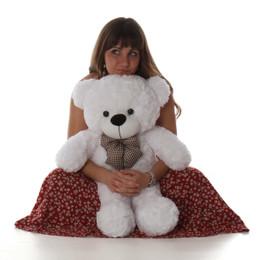 Coco Cuddles Cute and Cuddly White Teddy Bear 30in