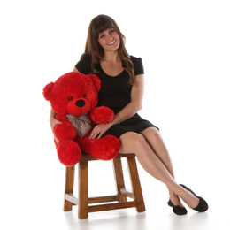 Oversized Red Teddy Bear Bitsy Cuddles 30in
