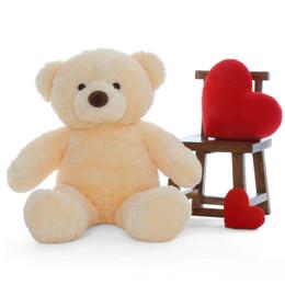 Smiley Chubs Adorable Life Size Vanilla Cream Teddy Bear 4Ft