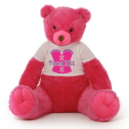 Huge 3 ½ft Hot Pink Prom 2016 Teddy Bear Cherry Tubs  Your Date Will Be In Love!