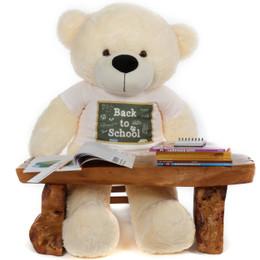 4ft Huge Cream Teddy Bear Cozy Cuddles Back to School