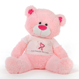 45in Pink Lulu Shags Cancer Awareness Teddy Bear