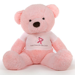 60in Pink Gigi Chubs Cancer Awareness Teddy Bear