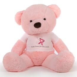 60in Pink Gigi Chubs Cancer Awareness Teddy Bear