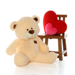 BooBoo Shags Plush and Adorable Smooth Vanilla Teddy Bear 37in