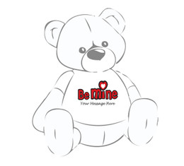 Giant Teddy Personalized Be Mine teddy bear tshirt