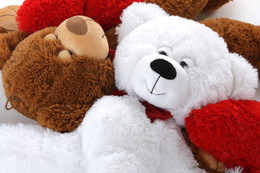 Valentine's Day Pair of Bears Gift Package: 2 Mittens Teddy Bears 24in each Snuggley & Snoozey Mittens
