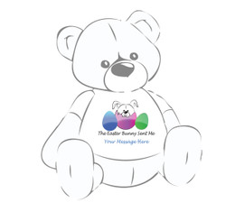 "Personalized ""The Easter Bunny Sent Me"" Giant Teddy Bear Easter shirt"