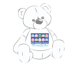 """Personalized """"Egg Hunting Expert"""" Easter shirt for Giant Teddy bears"""