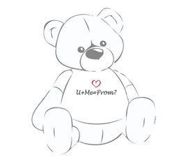 U+me=Prom? Teddy Bear T-Shirt