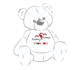 Prom 2016 w/Linked Red Hearts Teddy Bear T-Shirt