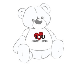 Giant Teddy Prom 2015 I love you shirt