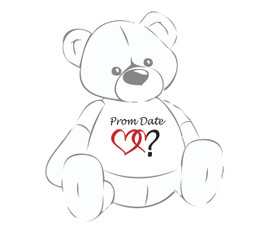 Prom Date? Double Heart Teddy Bear T-Shirt