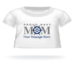 Proud Navy Mom Ship's Wheel Mother's Day T-shirt