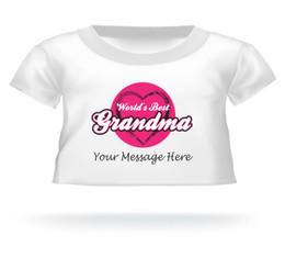 World's Best Grandma Personalized Giant Teddy Bear shirt