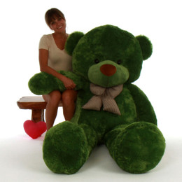72in Life Size Green Teddy Bear Lucky Cuddles Giant Teddy Brand