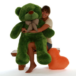 4ft Tall Life Size Green Teddy Bear Lucky Cuddles Incredibly Soft