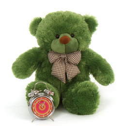 Adorable 2ft Large Oversized Snuggly Green Teddy Bear Lucky Cuddles