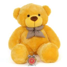 4ft Life Size Teddy Bear Beautiful Sunny Yellow Fur Daisy Cuddles
