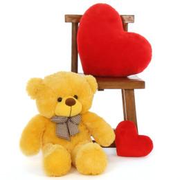 Big 30in Yellow Teddy Bear Cuddly Soft Daisy Cuddles by Giant Teddy