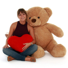 48in Cutie Chubs Jumbo Size Soft Amber Fur Teddy Bear Gift (2)