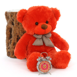 Snuggly Teddy Bear Lovey Cute Cuddles Beautiful Orange Red Fur 30inm