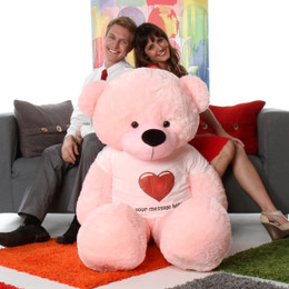 6ft life size huge personalized pink teddy bear famous Lady Cuddles from Giant Teddy brand