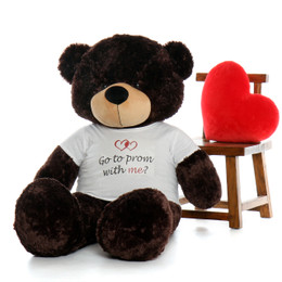 Life Size 5ft Go To Prom With Me Teddy Bear Brownie Cuddles Chocolate Fur