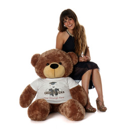 Life Size 4ft Personalized 2018 Graduation Teddy Bear Mocha Sunny Cuddles