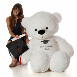 6ft Prom Teddy Bear White Coco Cuddles