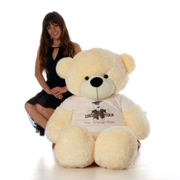 5ft Life Size Personalized Class of 2018 Graduation Teddy Bear Vanilla Cozy Cuddles