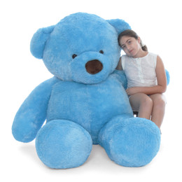 Giant Teddy Sammy Chubs Life Size Blue Teddy Bear 72in