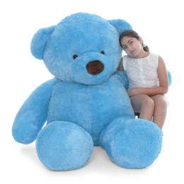 Giant Teddy Sammy Chubs Life Size Blue Teddy Bear 72in