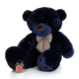 60in Royce Cuddles Navy Blue Life Size Teddy Bear
