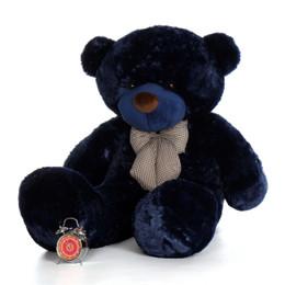 60in Royce Cuddles Navy Blue Life Size Teddy Bear