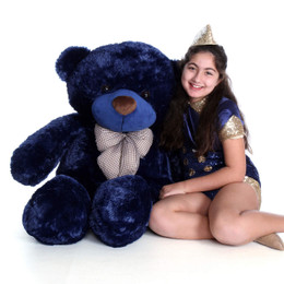 48in Royce Cuddles Navy Blue Life Size Teddy Bear