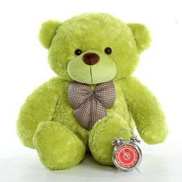 48in Ace Cuddles Lime Green Life Size Teddy Bear
