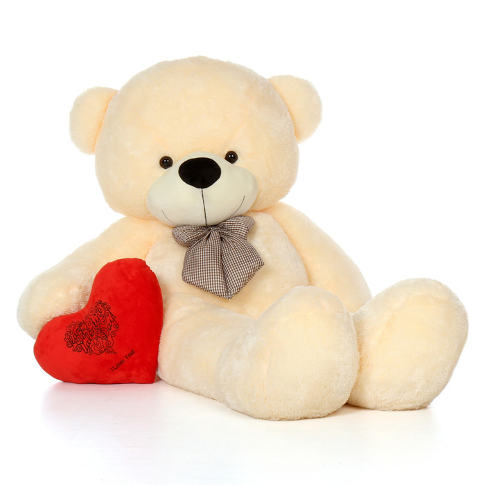 Schön 72in Giant Teddy Bear Vanilla Cream Valentineu0027s Day Red Plush ...