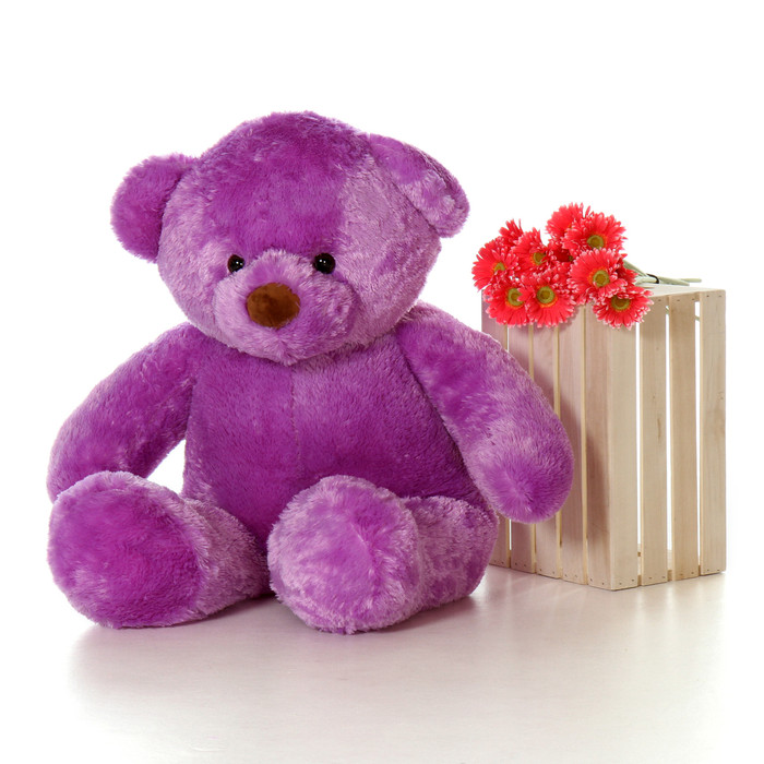 Giant 4ft Size Lila Chubs Purple Teddy Bear