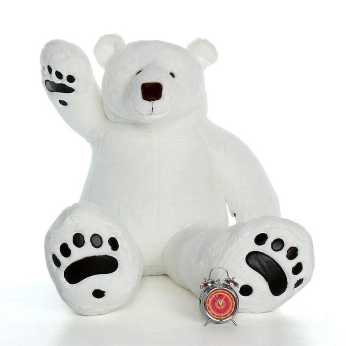 60 inch Giant Teddy Brand Polar Bear White Teddy Bear