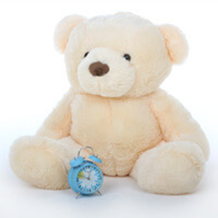Smiley Chubs vanilla cream teddy bear 38in