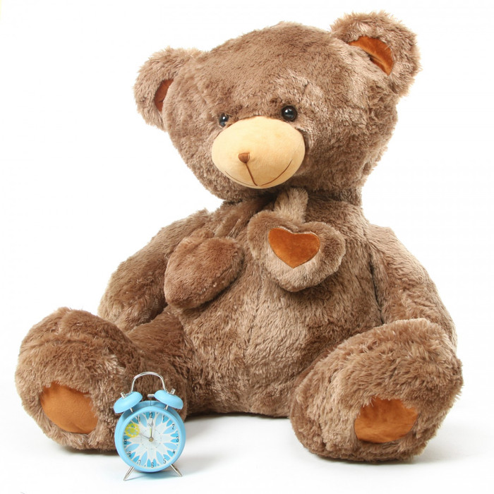 Cheaky Hugs mocha brown teddy bear 45in