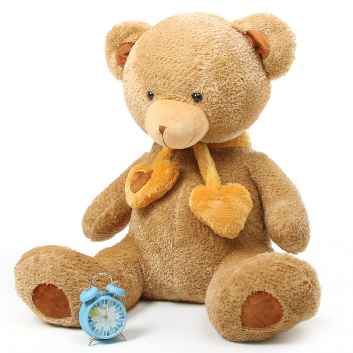 Cupid Hugs amber brown teddy bear 45in