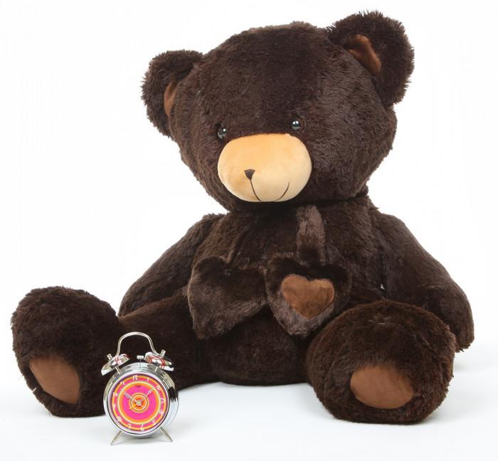 Big Papa Hugs chocolate brown teddy bear 36in