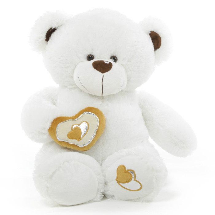 Chomps Big Love huggable white teddy bear 30in