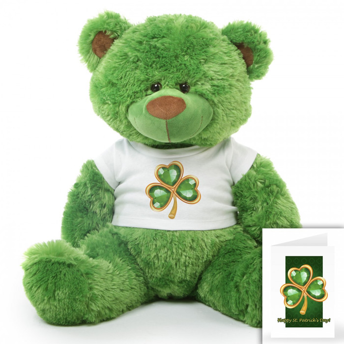 Willy P. Shags Personalized St. Patricks Day Teddy Bear 35in
